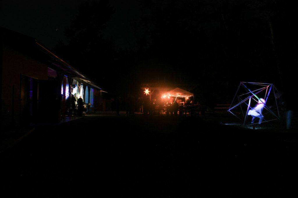 Festival art design Ant1 Lights tensegrity