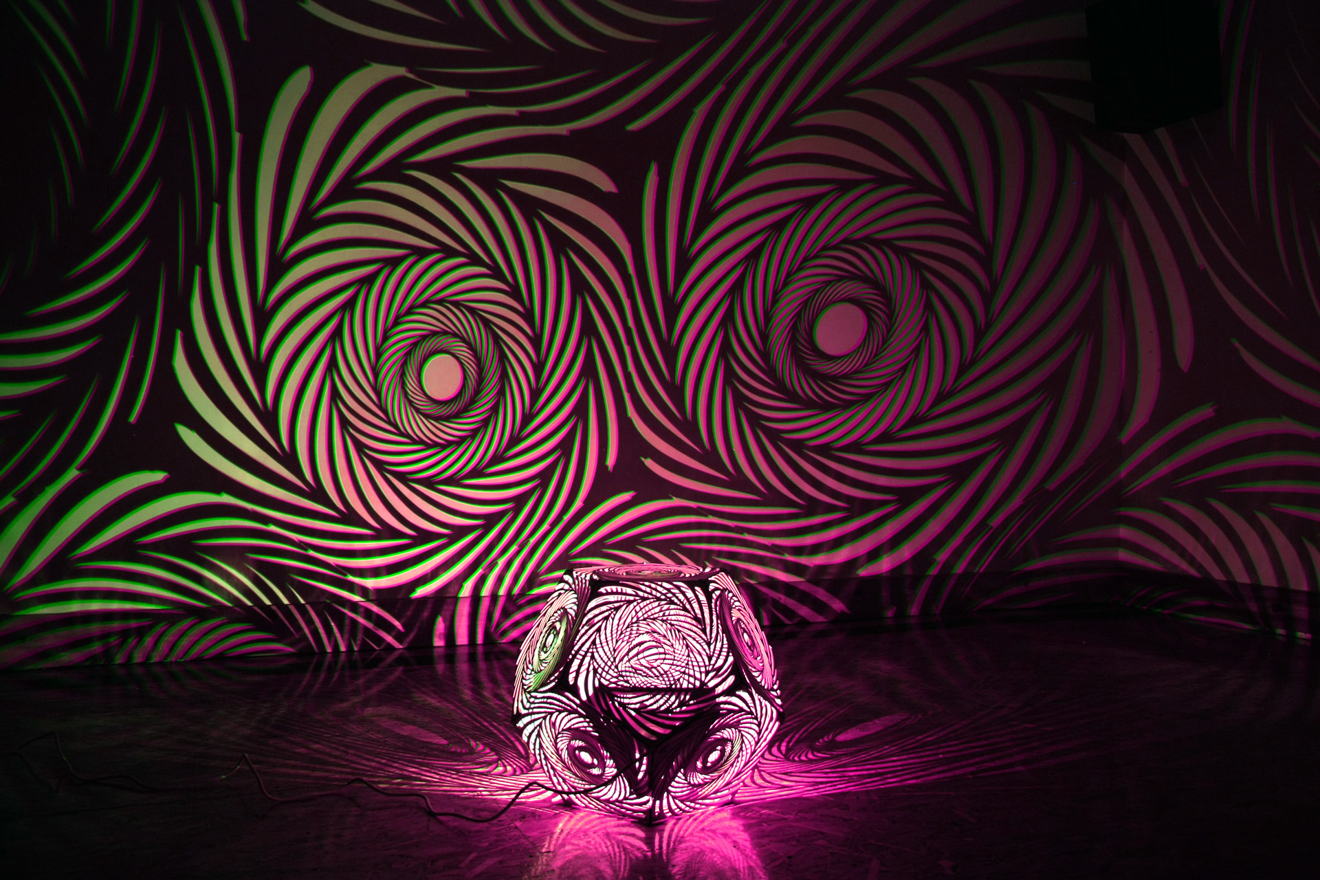 Neon Colors Dodecahedron art light