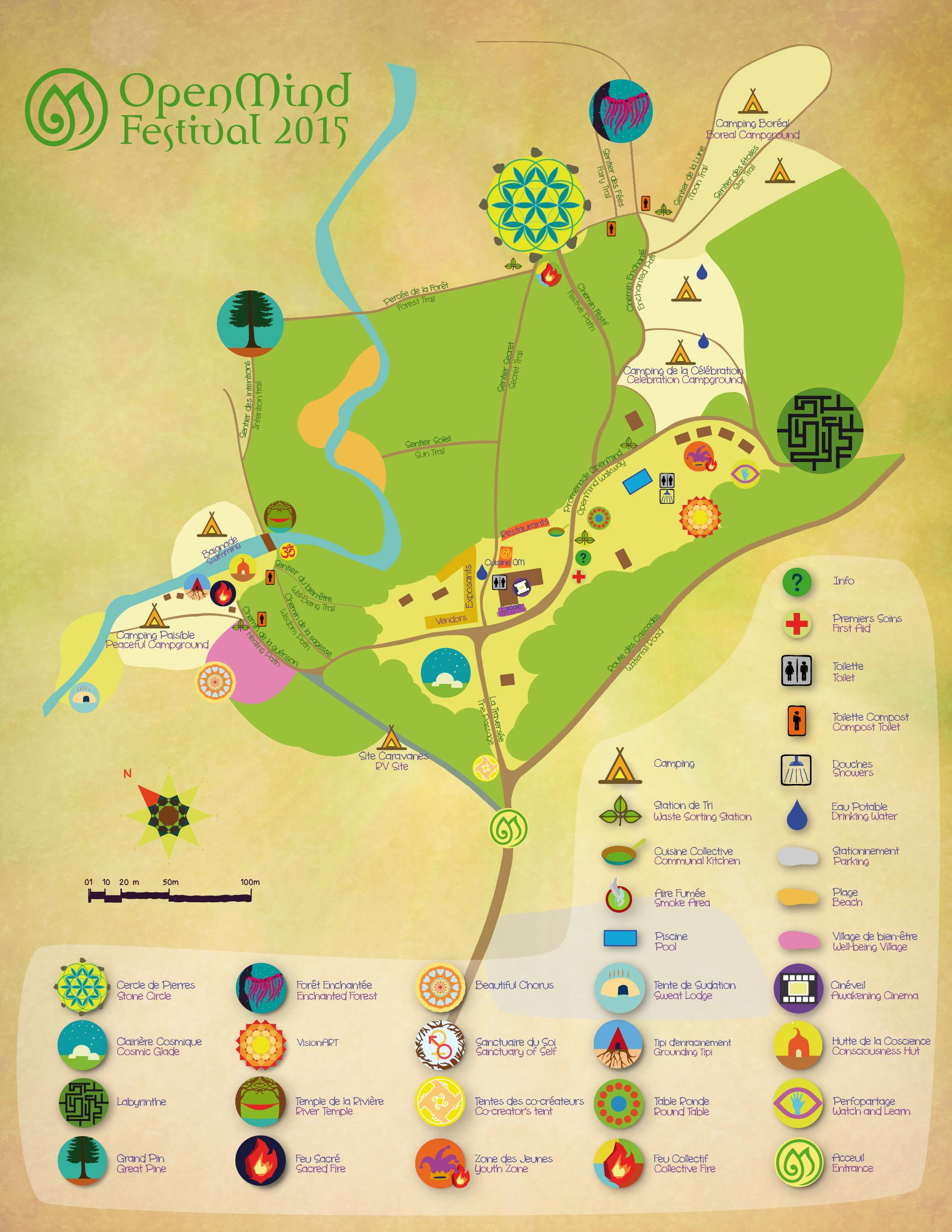 Open Mind Festival Site Map 2015