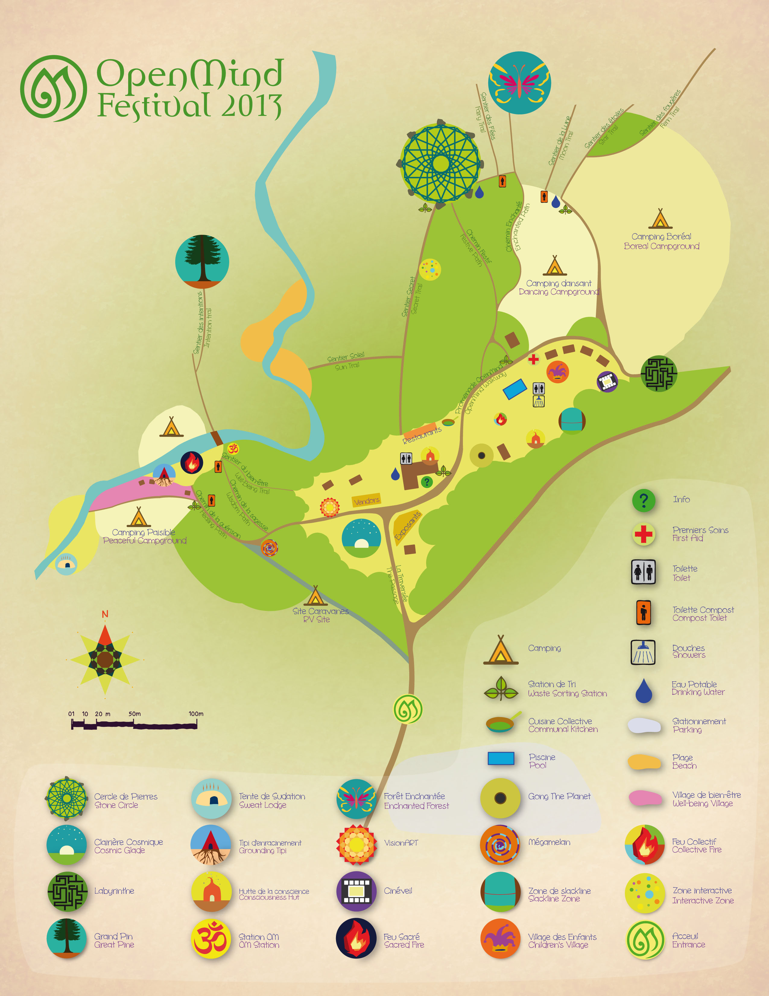 Open Mind Festival Site Map 2013