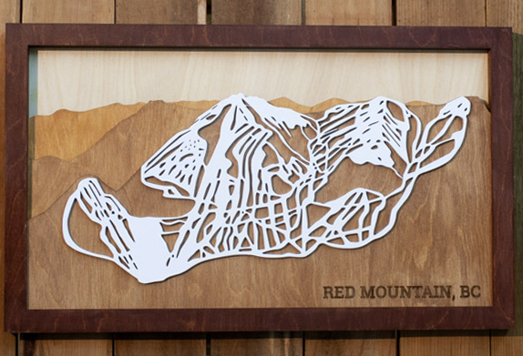 Red Mountain Ski Map Art